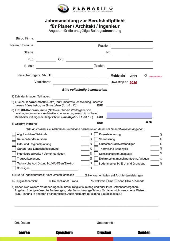 Jahresmeldung Vorschau