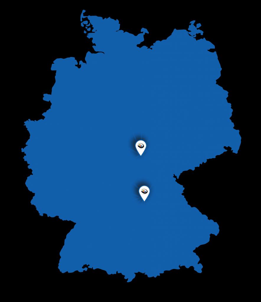 Deutschlandkarte Planaring-Kundeneinzugsgebiet
